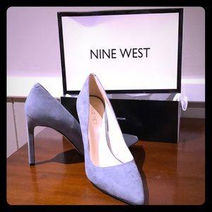 "New in box Nine West Grey Suede 4"" heels"